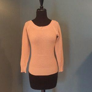 Theory Waffle Knit Sweater Tan Size P/TP
